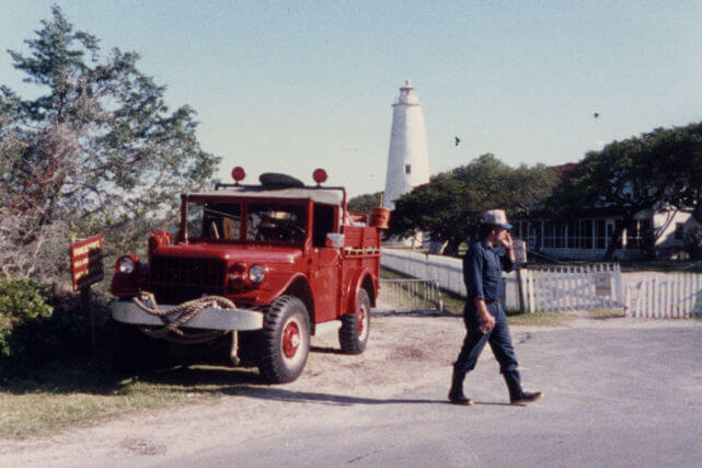Ocracoke old historical fire truck